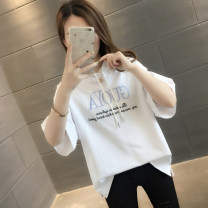 T-shirt S M L XL Summer of 2019 Short sleeve Hood easy Regular routine commute other 96% and above Korean version letter You've got to go Other 100% Pure e-commerce (online only)