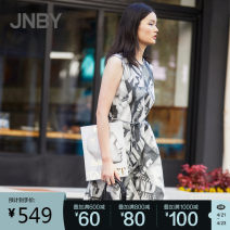 Dress Summer 2020 599 / purple is multicolor and variegated, 099 / black is flower type XS,S,M,L,XL Mid length dress singleton  Sleeveless commute Crew neck middle-waisted other Socket other routine Others 25-29 years old JNBY / Jiangnan cloth clothing Simplicity 5K4510390 More than 95% other cotton