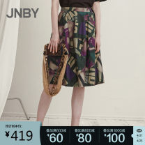 skirt Spring 2021 XS,S,M,L,XL 599 / purple is multicolor and variegated, 099 / black is flower type Mid length dress Versatile Natural waist A-line skirt Abstract pattern Type A 25-29 years old 5K4410530-- More than 95% other JNBY / Jiangnan cloth clothing cotton printing