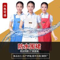 apron White, blue, army green, yellow, jujube red, scarlet Sleeveless apron waterproof PVC Average size public