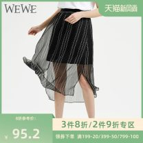 skirt Summer 2020 S/26 M/27 L/28 Black n02672 Middle-skirt commute Natural waist letter 25-29 years old N02672 More than 95% We / Weiwei polyester fiber Polyester 100% Same model in shopping mall (sold online and offline)