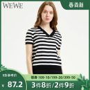 T-shirt S/160 M/165 Summer 2020 Short sleeve V-neck Regular routine commute acrylic fibres 31% (inclusive) - 50% (inclusive) 25-29 years old We / Weiwei Same model in shopping mall (sold online and offline)