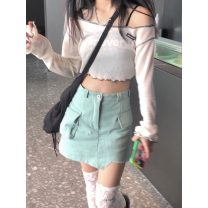 Fashion suit Summer 2020 Average size Sunscreen shirt, vest, skirt s, Skirt M, socks (real price) no reduction 30% and below