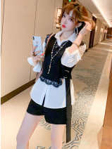 Cosplay women's wear jacket goods in stock Over 14 years old White + Black + Black comic miuco Please fill in M