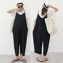 Casual pants black S,M,L,XL Spring 2020 Ninth pants rompers High waist street Thin money 18-24 years old 51% (inclusive) - 70% (inclusive) Yan Rong nylon nylon Hip hop