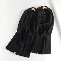 woolen coat Winter of 2019 S,M,L Black, Navy other 30% and below Long sleeves Buckle