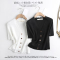 T-shirt White, black S,M,L Summer 2020 V-neck Regular other 30% and below