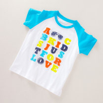 T-shirt white Other / other 90cm,100cm,110cm male summer Short sleeve cotton Cartoon animation M0330-44 Five, four, seven, nine, eight, six