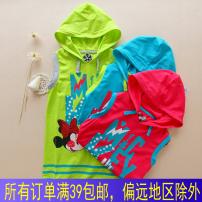 T-shirt Other / other female summer Short sleeve Crew neck No model No detachable cap cotton Cartoon animation