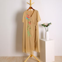 Dress Summer of 2019 Apricot L,XL Other / other