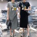 Dress Winter 2016 M,L,XL,XXL,XXXL longuette singleton  Short sleeve street Crew neck routine 18-24 years old printing z3MfRmXy