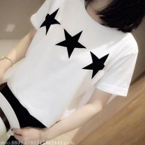 Sports T-shirt Other / other M. L, XL, XXL (adult) Short sleeve female forty-two Lapel white easy elastic force leisure time