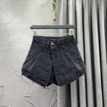 Jeans Summer 2021 Blue, black S,M,L,XL shorts High waist Wide legged trousers routine 18-24 years old Wash, button, other Cotton denim VIP0117—2002 W.S.VIP 96% and above