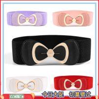 Belt / belt / chain other Red, black, white, camel, light purple, leather powder female belt Versatile Single loop bow bow 1837E9040 1cm