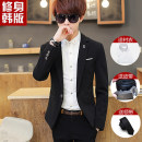 man 's suit Enweg Youth fashion routine Polyester 77.7% viscose 22.3% Self cultivation A single breasted button Other leisure Back middle slit teenagers Long sleeves spring routine Youthful vigor Casual clothes stand collar Straight hem Solid color Regular collar (collar width 7-9cm) 2018