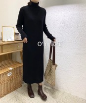 Wool knitwear Winter of 2019 Average size Long sleeves singleton  Socket other 91% (including) - 95% (excluding) Medium length Thin money commute Self cultivation High collar routine Solid color Socket Korean version