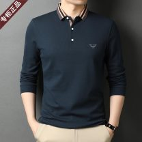 T-shirt Fashion City Black [long sleeves], dark gray [long sleeves], orange [long sleeves], dark blue [long sleeves], khaki [long sleeves], black [short sleeves], dark blue [short sleeves], light green [short sleeves], khaki [short sleeves], gray [short sleeves], white [short sleeves] routine Lapel