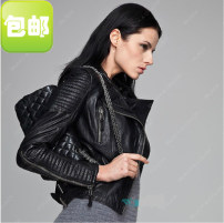 leather clothing Cyprocaro Spring of 2019 XS,S,M,L,XL,2XL,3XL Black New Zealand leather have cash less than that is registered in the accounts Long sleeves Self cultivation commute stand collar zipper routine 6-633 Sheepskin 25-29 years old