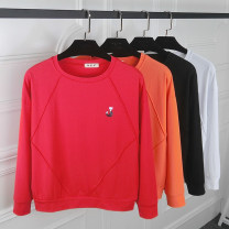 T-shirt Black, white, red, orange M. L, XL, 2XL, pay attention to the store and give small gifts Autumn of 2018 Long sleeves Crew neck Self cultivation Regular routine commute cotton 86% (inclusive) -95% (inclusive) 25-29 years old Korean version youth Solid color Hani tide 0717#