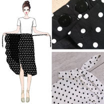 skirt Summer of 2019 XL,2XL,S,M,L A black skirt with buttons, a white skirt with buttons, a red skirt with buttons Mid length dress commute High waist Irregular Dot Type A 18-24 years old 2005# 51% (inclusive) - 70% (inclusive) Chiffon other Bandage Korean version