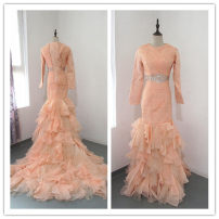 Dress / evening wear Wedding adult party company annual meeting performance L Orange pink Netting