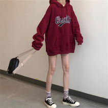 Women's large Winter of 2019, autumn of 2019 Sweater / sweater singleton  commute easy thickening Socket Long sleeves letter Korean version Hood routine Three dimensional cutting routine 18-24 years old pocket 81% (inclusive) - 90% (inclusive)