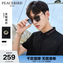 Polo shirt Peacebird Fashion City routine XXL XXXL XXXXL S M L XL standard Other leisure summer Short sleeve Business Casual routine youth Cotton 100% other cotton Summer 2021 Pure e-commerce (online only) More than 95%