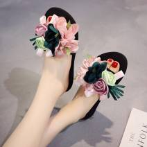 slipper 35,36,37,38,39,40,41,42 Other / other Muffin bottom High heel (5-8cm) Elastic cloth Spring of 2018