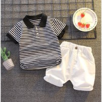 T-shirt Bbabba / children's wear 100 (recommended height 85-95), 110 (recommended height 95-105), 120 (recommended height 105-115), 80 (recommended height below 75), 90 (recommended height 75-85) male summer Short sleeve motion other stripe Cotton 80% polyester 20% Class A Over 14 years old