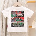 T-shirt Bbabba / children's wear 100 cm,110 cm,120 cm,73 cm,80 cm,90 cm male Short sleeve Korean version other Cartoon animation Cotton 80% polyester 20% Over 14 years old Chinese Mainland