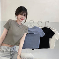 T-shirt Army green, light blue, white, black M,L,XL Summer 2021 Short sleeve Crew neck Self cultivation have cash less than that is registered in the accounts commute other 30% and below 18-24 years old Korean version Other / other 0417L