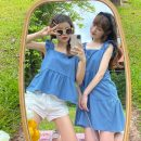Dress Spring 2021 Blue jacket, blue dress, yellow jacket, yellow dress, red jacket, red dress, Navy jacket, Navy Dress Average size Middle-skirt singleton  Sleeveless commute square neck High waist Socket Big swing camisole 18-24 years old Type A Other / other Korean version 0331Y