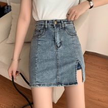 skirt Spring 2021 S,M,L,XL Picture color Short skirt commute High waist A-line skirt Solid color Type A 18-24 years old 0221M 31% (inclusive) - 50% (inclusive) other Other / other Korean version