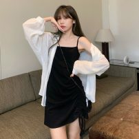 Dress Summer 2021 Suspender skirt, shirt Average size Short skirt Two piece set Long sleeves commute camisole 18-24 years old Other / other Korean version 0417L 30% and below other