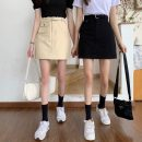 skirt Spring 2021 S,M,L Khaki, black Short skirt commute High waist skirt Type A 18-24 years old 0401Y 31% (inclusive) - 50% (inclusive) Other / other other Korean version