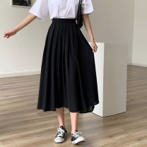 skirt Spring 2021 Average size Apricot, green, black Short skirt commute High waist Pleated skirt Type A 18-24 years old 0402Y 31% (inclusive) - 50% (inclusive) Other / other Korean version