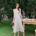 Dress Summer 2021 Blue, yellow, pink Average size Mid length dress singleton  Sleeveless commute High waist Socket A-line skirt camisole 18-24 years old Type H Other / other Korean version 0408Y 31% (inclusive) - 50% (inclusive)