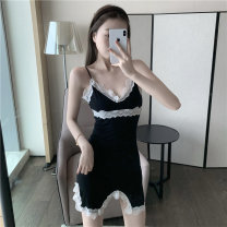 Dress Summer 2021 black S, M Short skirt singleton  commute camisole 18-24 years old Other / other Korean version 0410L 30% and below other