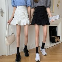 skirt Spring 2021 S,M,L White, black, yellow, pink Short skirt commute High waist skirt Solid color Type A 18-24 years old 31% (inclusive) - 50% (inclusive) Other / other Korean version