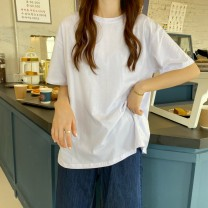 T-shirt White, black, sky blue, tender powder, taro purple, cream yellow, orange, light green Average size Spring 2021 Short sleeve Crew neck easy Regular commute other 30% and below 18-24 years old Korean version Other / other 0314L