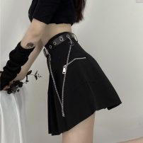 skirt Spring 2021 M, L Gray, black Short skirt commute High waist A-line skirt Solid color Type A 18-24 years old 0216M 31% (inclusive) - 50% (inclusive) other Other / other Korean version