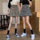 skirt Spring 2021 Average size Black, brown Short skirt commute High waist A-line skirt Leopard Print Type A 18-24 years old W0402 30% and below other Other / other other printing Korean version
