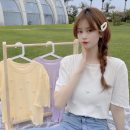 T-shirt White, purple, yellow Average size Summer 2021 Short sleeve Crew neck Self cultivation have cash less than that is registered in the accounts commute other 30% and below 18-24 years old Korean version other Solid color Other / other 0414L