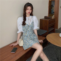 Fashion suit Spring 2021 M. L, average size White top, blue suspender skirt 18-25 years old Other / other 0331Y 31% (inclusive) - 50% (inclusive)