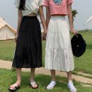 skirt Summer 2021 Average size Black long, white long, black short, white short Mid length dress commute High waist A-line skirt Solid color Type A 18-24 years old 0414Y 31% (inclusive) - 50% (inclusive) Other / other Korean version