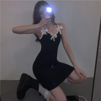 Dress Spring 2021 White, black Average size Short skirt singleton  Sleeveless commute High waist Solid color Socket A-line skirt camisole 18-24 years old Type A Other / other Korean version 0329Y 31% (inclusive) - 50% (inclusive) other