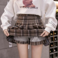 skirt Winter 2021 S,M,L,XL Blue, black, brown Short skirt commute High waist Pleated skirt Solid color Type A 18-24 years old JZ1301 51% (inclusive) - 70% (inclusive) other other Pleated, zipper Korean version