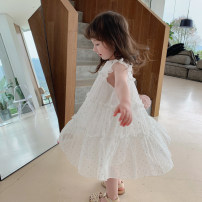 Dress Off white female Other / other 80cm,90cm,100cm,110cm,120cm,130cm Other 100% summer Korean version Short sleeve other Chiffon Pleats YY Dot Chiffon Dress 7 years old, 12 months old, 3 years old, 6 years old, 18 months old, 9 months old, 6 months old, 2 years old, 5 years old, 4 years old