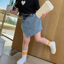 trousers Other / other female 90cm,100cm,110cm,120cm,130cm blue summer shorts Korean version There are models in the real shooting Jeans Leather belt middle-waisted Denim Don't open the crotch YM waist pack fake two-piece skirt pants YM waist pack fake two-piece skirt pants