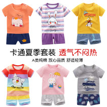 suit Beyonce 80cm 90cm 100cm 110cm 120cm neutral summer leisure time Short sleeve + pants 2 pieces Thin money No model nothing Cartoon animation cotton K003 Class A Cotton 100% Spring of 2019 12 months 9 months 18 months 2 years 3 years 4 years 5 years old Chinese Mainland Guangdong Province